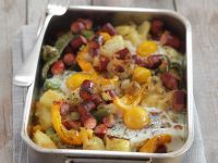 Breakfast-style Tray Bake recipe