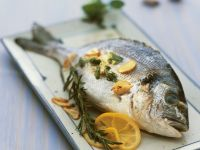 Bream with Garlic, Herbs and Lemon recipe