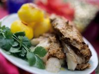 Bream with Nut Crust and Potatoes recipe