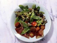 Bresaola Salad with Snow Peas recipe
