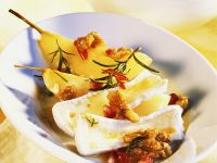 Brie with Walnuts and Spicy Pear Compote recipe