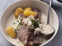 Brisket with Horseradish Quince Sauce recipe