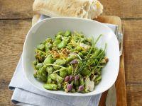 Broad Bean Salad with Walnuts recipe