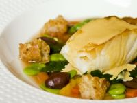 Broad Bean Stew with Sea Bass recipe