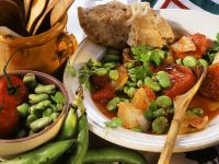Broad Beans and Tomatoes recipe