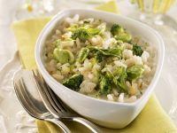 Broccoli and Broad Bean Risotto recipe