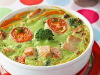 Broccoli Flan with Turkey recipe