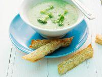 Broccoli Soup with Sesame Bread recipe