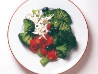 Broccoli with Tomato Sauce and Feta Cheese recipe