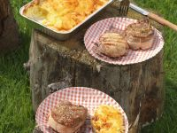 Broiled Beef and Pork with Potato Gratin recipe