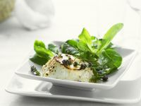 Broiled Goat Cheese with Mache Salad and Lavender recipe