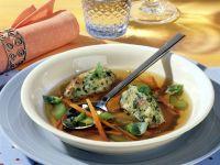 Broth with Herb-bread Dumplings recipe