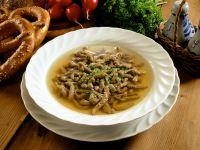 Broth with Liver Dumplings recipe