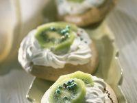 Brown Sugar Meringues with Kiwi recipe