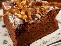 Brownies with Spun Caramel Garnish recipe