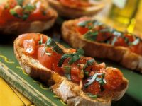 Bruschetta with Tomatoes and Basil recipe