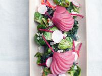 Brussel Sprout and Pear Salad recipe