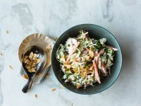 Brussels Sprouts Salad with Carrots and Almonds recipe