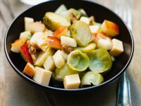 Brussels Sprouts Salad with Apple and Cheese recipe