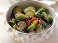 Brussels Sprouts with Bacon and Cream recipe