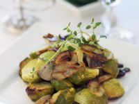 Brussels Sprouts with Mushrooms recipe