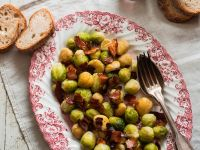 Brussels Sprouts with Pancetta and Chestnuts recipe
