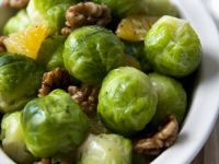Brussels Sprouts with Walnuts and Orange recipe