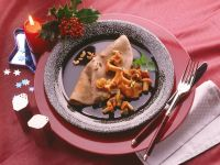 Buckwheat Crepes with Chanterelles recipe
