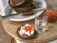 Buckwheat Pancakes with Salmon recipe