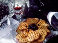 Light and Buckwheat Waffles with Blueberry Compote