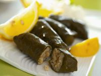 Bulgarian-Style Grape Leaves with Rice and Raisin Filling recipe