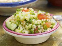 Bulgur Salad with Cucumber and Scallions recipe