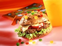 Burger with Bell Peppers
