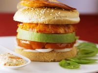 Burger with Lobster and Avocado recipe