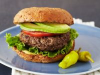 Burgers with Avocado and Jalapeños recipe