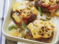 Burgers with Cheese and Tomato recipe