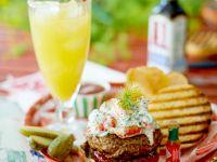 Burgers with Crawfish Salad recipe