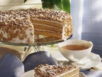 Buttercream Layer Cake with Almonds and Pine Nuts recipe