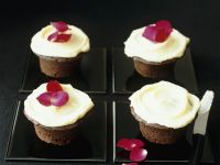 Buttercream Topped Chocolate Muffins recipe