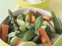 Buttered Mixed Vegetables with Basil recipe