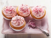 Buttermilk Cupcakes with Strawberry Frosting recipe
