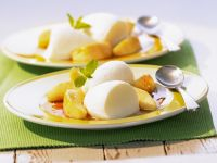 Buttermilk Mousse with Caramel Apples recipe