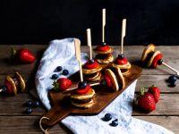 Pancake Skewers with Fruits recipe