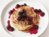 Buttermilk Pancakes with Blueberry Syrup recipe