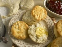 Buttermilk Scones with Garnish recipe