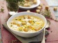 Butternut Squash Soup with Corn recipe