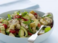 Button Mushroom Salad Bowl recipe