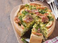 Cabbage and Bacon Quiche recipe