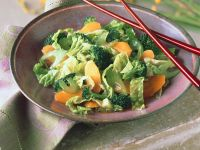 Cabbage and Broccoli Salad with Carrots recipe
