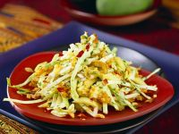 Cabbage and Mango Salad with Chopped Peanuts recipe